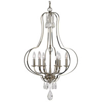 Genie 6 Light 22 inch Polished Nickel Chandelier Ceiling Light
