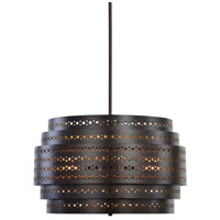 Fuller 3 Light 22 inch Dark Bronze Chandelier Ceiling Light, Drum