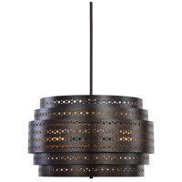 Uttermost 21303 Fuller 3 Light 22 inch Dark Bronze Chandelier Ceiling Light Drum