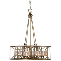 Ghiaccio 8 Light 25 inch Silver Swedish Iron Pendant Ceiling Light