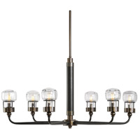 Graham 6 Light 37 inch Dark Weathered Bronze Chandelier Ceiling Light