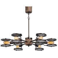 Gavia 6 Light 39 inch Heavily Antiqued Plated Brass Chandelier Ceiling Light