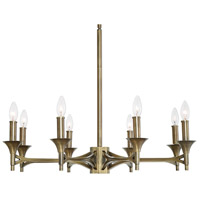 Uttermost 21316 Brant 8 Light 30 inch Aged Brass Chandelier Ceiling Light