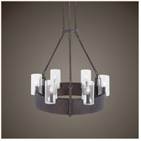 Uttermost 21319 Pinecroft 6 Light 28 inch Burnished Bronze Chandelier Ceiling Light 21319_Lifestyle.jpg thumb