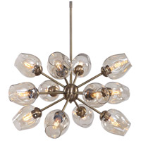 Chet 12 Light 33 inch Warm Antique Brass Chandelier Ceiling Light