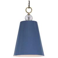 Uttermost 21516 Delray 1 Light 18 inch Blue Pendant Ceiling Light