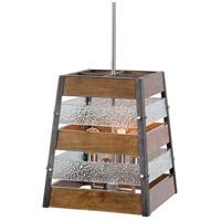 Uttermost 21518 Glasshouse 4 Light 16 inch Brushed Nickel Lantern Pendant Ceiling Light