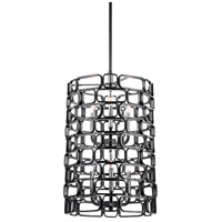Uttermost 21531 Becton 6 Light 18 inch Matte Black and Polished Nickel Pendant Ceiling Light