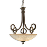 Uttermost Legato Uplight Pendant in Distressed Chestnut Brown 21829
