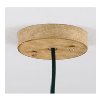 Naturals 1 Light 8 inch Hand Rubbed Ivory Mini Hanging Shade Ceiling Light
