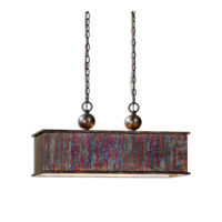 Uttermost Albiano Rectangle 2 Lt Pendant in Oxidized Bronze 21922