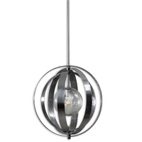 Uttermost Trofarello Silver 1 Light Pendant in Polished Nickel 21938