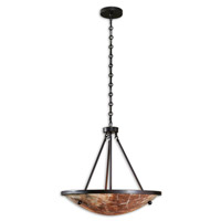 Uttermost Ravenna 3 Light Pendant in Oil Rubbed Bronze 21951