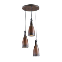 Uttermost Alpena Triple Pendant in Washed Copper 21973