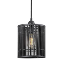 Uttermost Bronson Mini Pendant in Rust Black 21980