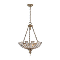 Vicentina 3 Light 21 inch Silver-Champagne Leaf Pendant Ceiling Light