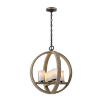 Gironico 5 Light 20 inch Lightly Stained Rope Pendant Ceiling Light