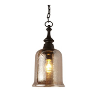 Lustre 1 Light 7 inch Dark Bronze Mini Pendant Ceiling Light