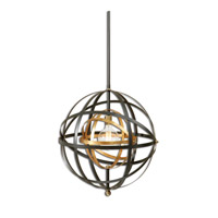 Rondure 1 Light 23 inch Dark Oil Rubbed Bronze Pendant Ceiling Light, able to be installed on a sloped ceiling, with the pivot ball at the canopy