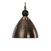 Adastra 1 Light 12 inch Antique Brass Pendant Ceiling Light