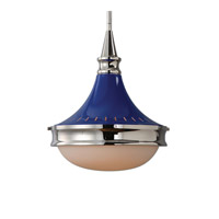 Blueberry 1 Light 13 inch Painted Blue Pendant Ceiling Light