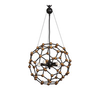 Molecule 5 Light 16 inch Oil Rubbed Bronze Pendant Ceiling Light