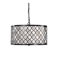 Uttermost Filigree 3 Light Pendant in Black 22062