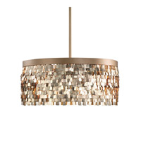Uttermost Tillie 3 Light Pendant in Textured Gold 22064