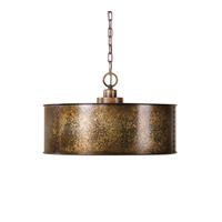 Uttermost Wolcott 3 Light Pendant in Light Gold 22066