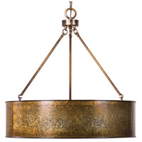 Uttermost 22067 Wolcott 5 Light 30 inch Light Gold Pendant Ceiling Light