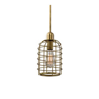Septa 1 Light 6 inch Rich Satin Gold Mini Pendant Ceiling Light