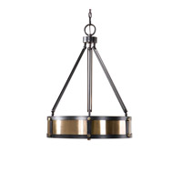 Uttermost Tegus 3 Light Pendant in Dark Oil Rubbed Bronze 22073