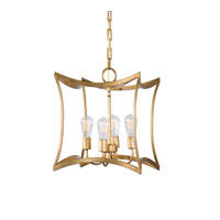 Dore 4 Light 16 inch Gold Leaf Pendant Ceiling Light
