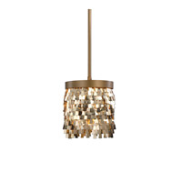 Tillie 1 Light 8 inch Matte Gold Mini Pendant Ceiling Light