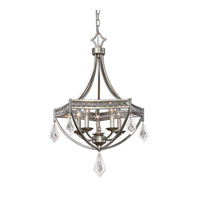 Tamworth 5 Light 21 inch Burnished Silver Champagne Leaf Pendant Ceiling Light