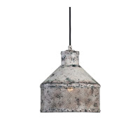 Granaio 1 Light 11 inch Distressed Ivory Pendant Ceiling Light