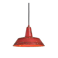 Pomodoro 1 Light 14 inch Distressed Poppy and Tomato Pendant Ceiling Light