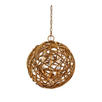 Uttermost Sphera 3 Light Pendant in Distressed French Gold 22090