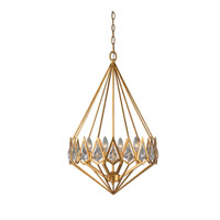 Eclatant 4 Light 19 inch Gold Leaf Pendant Ceiling Light