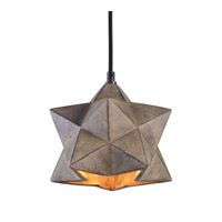 Rocher 1 Light 8 inch Antiqued Concrete Pendant Ceiling Light