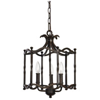 Candela 3 Light 14 inch Distressed Rust Iron Pendant Ceiling Light