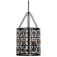 Rhombus 5 Light 18 inch Weathered Bronze Pendant Ceiling Light
