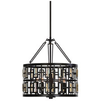 Rhombus 5 Light 20 inch Weathered Bronze Pendant Ceiling Light