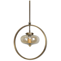 Uttermost 22116 Namura 1 Light 11 inch Antiqued Plated Brass Mini Pendant Ceiling Light 22116-A.jpg thumb