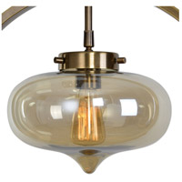 Uttermost 22116 Namura 1 Light 11 inch Antiqued Plated Brass Mini Pendant Ceiling Light 22116-A1.jpg thumb
