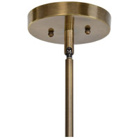 Uttermost 22116 Namura 1 Light 11 inch Antiqued Plated Brass Mini Pendant Ceiling Light 22116-A3.jpg thumb
