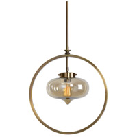 Uttermost 22116 Namura 1 Light 11 inch Antiqued Plated Brass Mini Pendant Ceiling Light thumb
