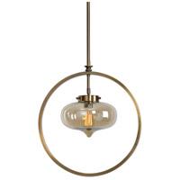 Uttermost 22116 Namura 1 Light 11 inch Antiqued Plated Brass Mini Pendant Ceiling Light