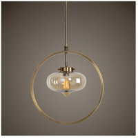 Uttermost 22116 Namura 1 Light 11 inch Antiqued Plated Brass Mini Pendant Ceiling Light 22116_Lifestyle.jpg thumb