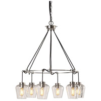 Akron 6 Light 32 inch Brushed Nickel Pendant Ceiling Light